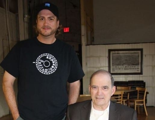 Richard Grove with NSA Whistleblower William Binney after the end of production on Sept 27, 2014.